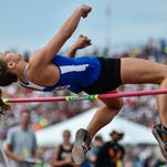 Clyde's Paula Wollenslegel competes in the high jump at the State Track and Field Meet as a junior.