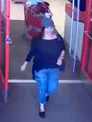 Suspect police believe made fraudulent purchases on a victim's credit card.