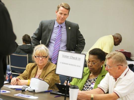 Secretary of State Jon Husted observes Hamilton County