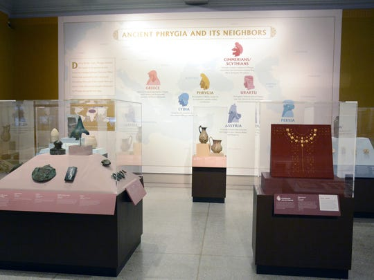 The story of King Midas is the story of influence and power on an international stage with neighboring kingdoms on all sides. Here, the Penn Museum's own collections shine: visitors are introduced to the spectacular gold work of the nomadic Scythians and the Lydians; distinctive metalwork of the Urartian Empire; monumental stone and ivory reliefs of the Assyrians; and stone sculpture of powerful Persia, which conquered Gordion in the 6th century BCE.