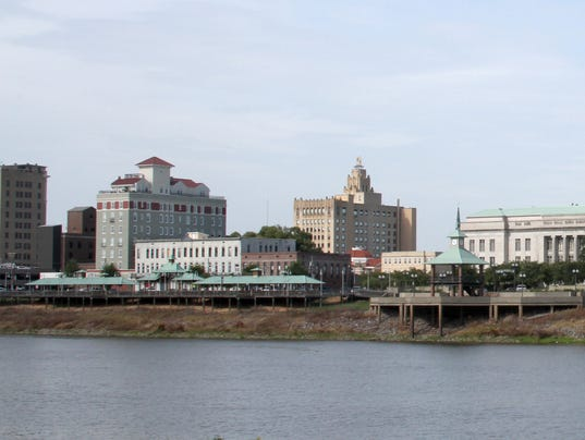 LANDMARK - Downtown RiverMarket, Monroe skyline
