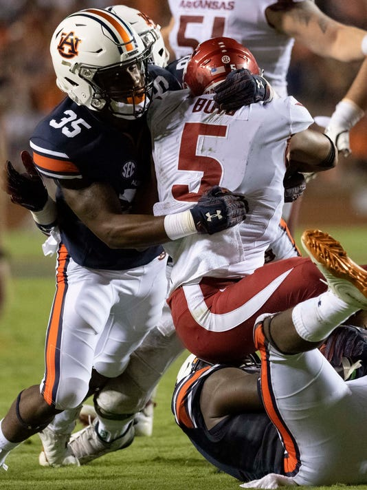 pretty nice 47cf0 c208a No. 9 Auburn rides special teams to 34-3 win over Arkansas