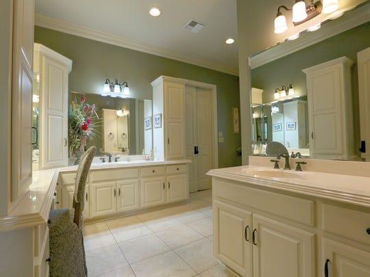 The spa-like master bath is huge.