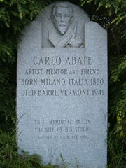 A memorial at the site of Carlo Abate's studio on Blackwell