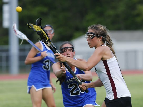 Claudia Kelly (6) of Red Bank scores a goal against