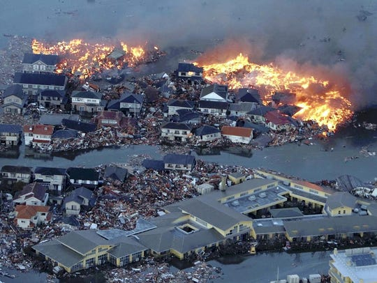 March 11, 2011: 18,000 dead or missing in Japan. Houses
