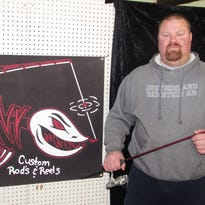 Shawn Hourihan runs two businesses out of his new shop near Millport -- CNY Custom Rods & Reels and Catharine Valley Outfitters.
