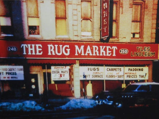 In this circa 1960s photo, The Rug Market is seen in its prior location on Monroe Avenue in Rochester. It moved to Irondequoit in 1968.