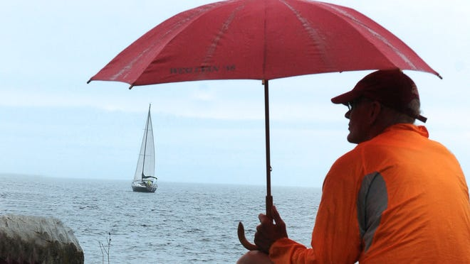 Scattered showers and thunderstorms crossed Door County on Saturday and are expected back in the area on Monday.
