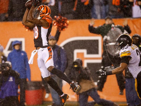 Bengals wide receiver A.J. Green catches the go-ahead