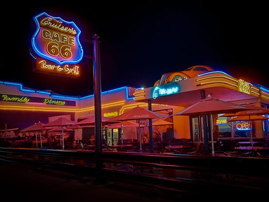 Cruisers Route 66 Cafe serves as the tap room for Grand