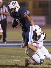 Central Valley Christian's Jaalen Rening plays against