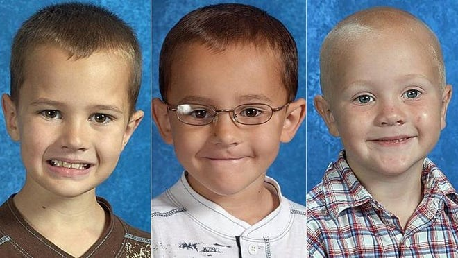 From left, brothers Andrew, Alexander and Tanner Skelton were last seen over Thanksgiving weekend in 2010.