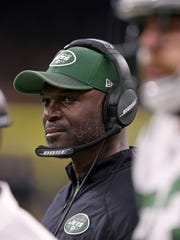 New York Jets head coach Todd Bowles in the second