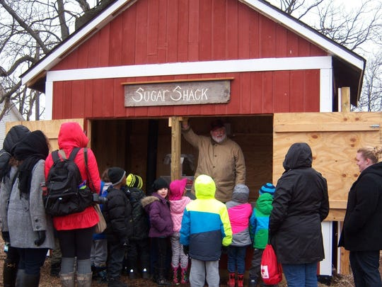 Maple syrup-making is an annual late-winter program at Maybury Farm.