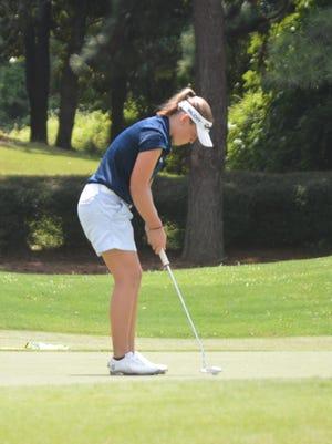 Trinity golfer Sophie Burks