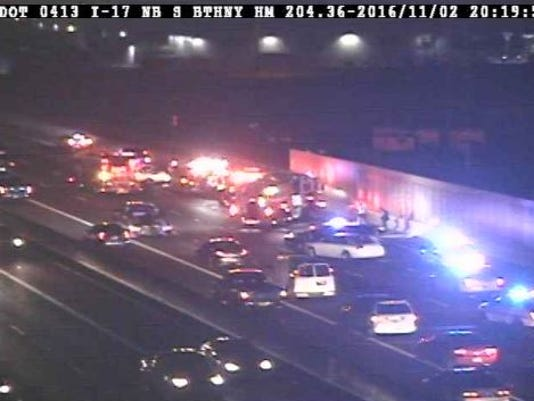 Serious injury crash on I-17