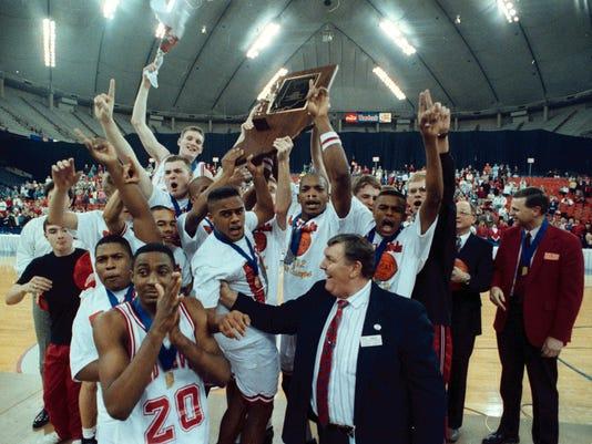 1992 Richmond Red Devils high school basketball state championship team