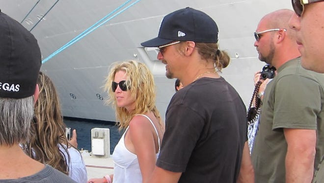Kid Rock and his longtime girlfriend, Audrey Berry, during a Chillin' the Most cruise stop in April 2011 in Cozumel, Mexico.