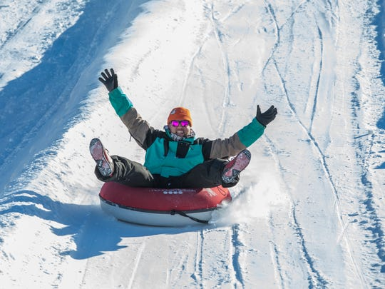 Snow tubing at Mountain Creek.