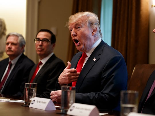 President Donald Trump speaks during a meeting with Republican members of Congress on immigration in the Cabinet Room of the White House on June 20, 2018.
