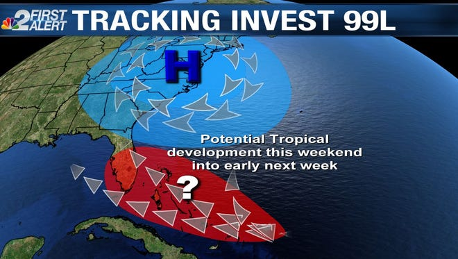 The odds of development are increasing for a large tropical wave approaching the Caribbean Islands.