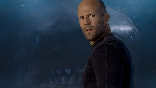 "Jason Statham portrays rescue diver Jonas Taylor in ""The Meg."""