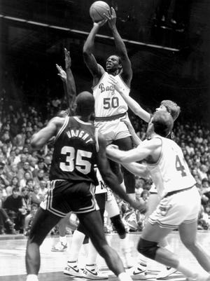 Danny Jones (50) set the Wisconsin Badgers' career scoring record and still ranks No. 5 in UW history with 1,854 career points.