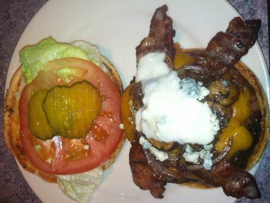 The Bulldog burger at Players Sports Bar & Grill made