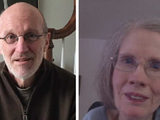 Dr. Timothy Quill, left, and Diane Coleman,  right.