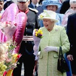 Queen Elizabeth II meets the public on her 90th birthday 'walkabout' on April 21, 2016 in Windsor, England. Thousands of people turned out to wish Britain's longest serving monarch a happy birthday.
