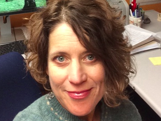 Gioia Woods, associate professor of humanities and NAU President's Distinguished Teaching Fellow.