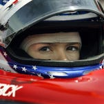 Danica Patrick prepares to turn a few practice laps at the track. Practice begins today, Tuesday May 9, 2006 at the Indianapolis Motor Speedway in preparation for the upcoming Indianapolis 500 later this month. Today vetran drivers were on the track turning laps well over 220 mph.
