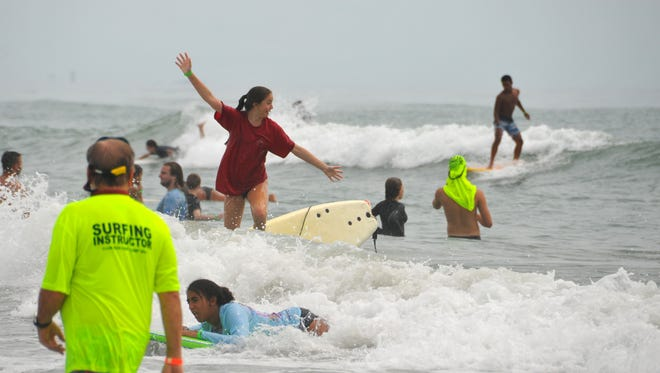 300 students ages 12-19 are attending the four day Club Zion Surf Camp in Cocoa Beach. The camp includes a morning devotion, surfing, lunch and more surfing. The students come back at night for live music and fun, always stressing a positive message to the campers.