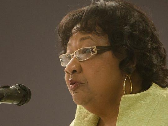 Ella Bell speaks during the Mayoral Forum on Thursday,