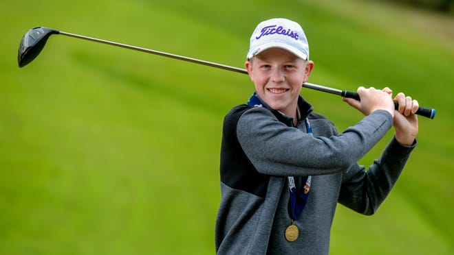 Peoria Christian's Weston Walker won the IHSA Class 1A state golf title Oct. 19 with a tough 10-foot putt on the 18th hole at Prairie Vista Golf Course in Bloomington. The championship capped off a stellar high school debut for the freshman. He is the 2019 Journal Star Boys Golfer of the Year.