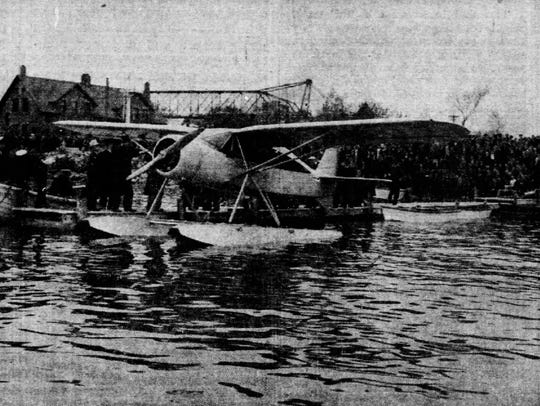 In the Sheboygan Press on May 21, 1938, a seaplane