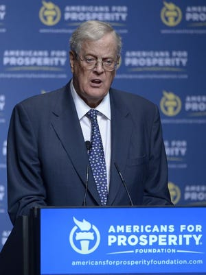 David Koch, pictured, and his brother, Charles Koch, are at the center of a political network that advances their libertarian principles.