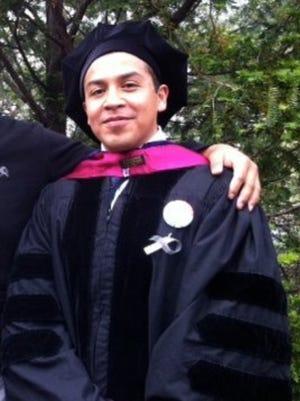 Cesar Vargas at his 2011 law school graduation