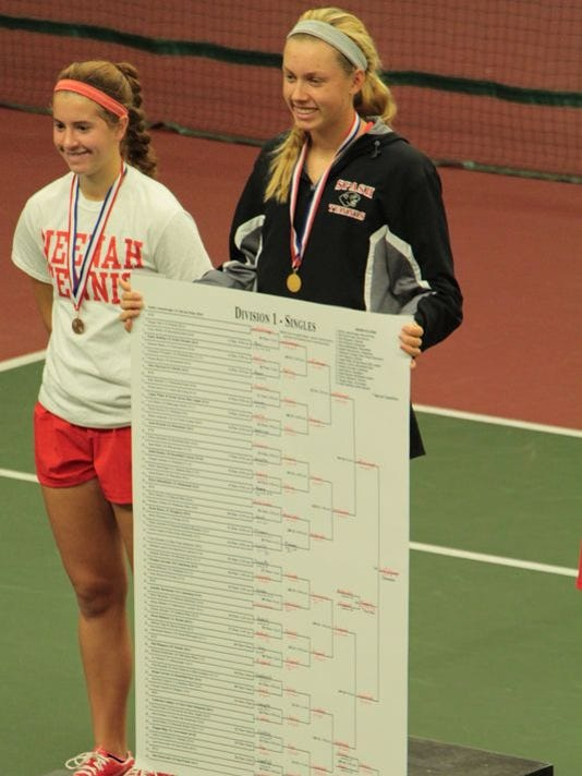 Emily Luetschwager wins the WIAA Division 1 state chmapionship