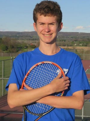 Daniel Feigelson, player of the year, Millbrook boys tennis.