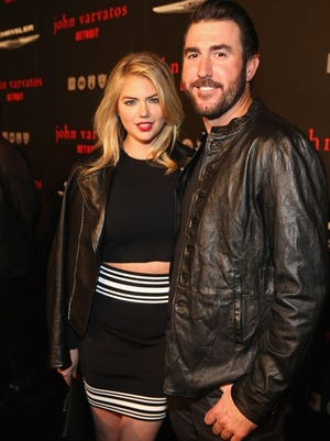 Justin Verlander with fiancé Kate Upton.