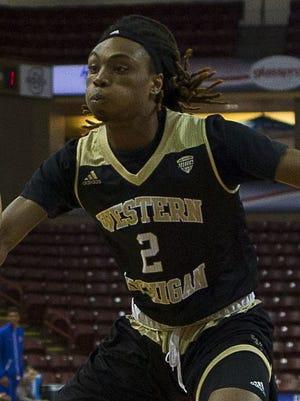 Western Michigan guard Joeviair Kennedy plays against Boise State on Nov. 20, 2016.