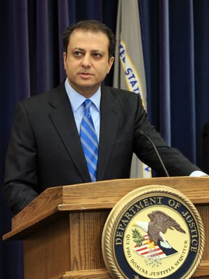 Federal prosecutor Preet Bharara announced several drug and weapon arrests in Yonkers and the Bronx