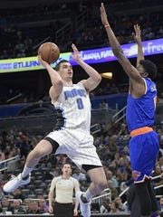 Mario Hezonja signed a one-year contract with the Knicks in July.