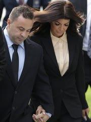 Joe and Teresa Giudice appear outside a Newark courthouse