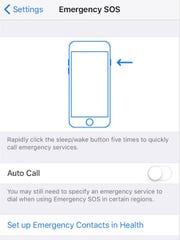 Emergency SOS in iOS 11