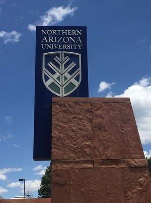 Northern Arizona University sign.