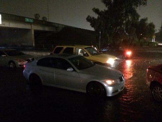 flooding cars stranded