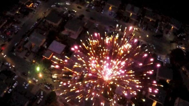 A Salinas neighborhood watch project used a drone overhead on the 4th of July to highlight the use of illegal fireworks.